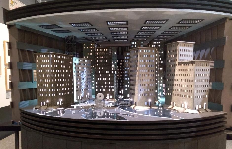 Modell der Unterstadt aus dem Film Metropolis.