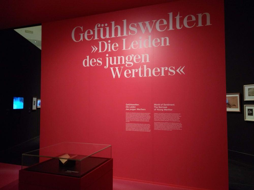 """Bereich der Ausstellung """"Goethe. Verwandlung der Welt"""" in der Bundeskunsthalle."""